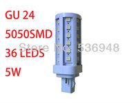 SMD 5050 LED Light 36LED Corn Bulb for home Lamp G24 576LM Cool /Warm White 220V-240V High Power Free Shipping