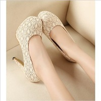 2013 the new bud silk net cloth shoes platform high waterproof platform heels princess single shoes