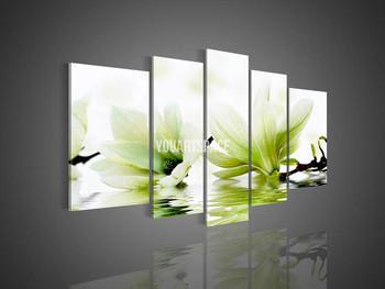5 Panel Wall Art No Framed Modern Abstract Acrylic Flower Magnolia ...