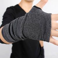 Men's Winter Autumn Knitted Thicken Warm Glove Fashion Wool Fingerless Long Short Thicken Gloves Mittens For Women Men