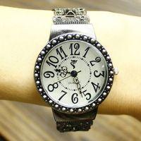 Hot Vintage cutout big round dial bracelet watch women's fashion watch