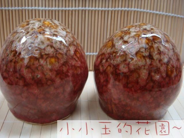 Red glaze easter eggs ceramic accessories ceramic(China (Mainland))