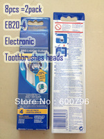 Promotion [8pcs=2pack] EB20-4 electronic toothbrushes head EB20-4 O-ral B rushes replacement toothbrush heads
