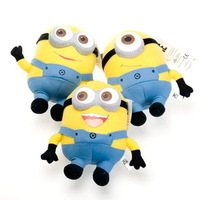 High quality 3D eyes Despicable ME 2 Movie Plush Toy 9'' 25cm Minion Jorge Stewart Dave NWT  Movies & TV Plush dolls Freehipping