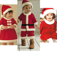 New 2013 baby winter romper clothing sets +Hat Long Sleeve newborn rompers christmas boy girl dress autumn -summer baby suits