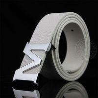 M16 male women's strap belt casual white strap