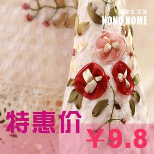 Fabric table cloth 100% cotton handmade ribbon embroidery dining table round table cloth tablecloth multifunctional gremial