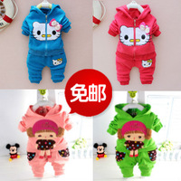 Children's clothing female child spring 2013 set spring and autumn child clothes twinset 1 2 3
