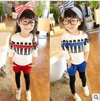 2013 children's female autumn child clothing child fashion personality small casual set sportswear