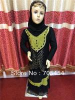 muslim girl abaya/islamic children clothing MA016