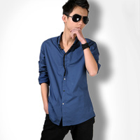 Dtt2013 spring male fashion long-sleeve shirt men's clothing shirt casual slim polka dot clothing