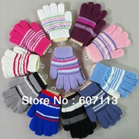 free shipping+12pairs/lot boy Girl lovely Knitted warm Mittens adult Warm Gloves & Mittens