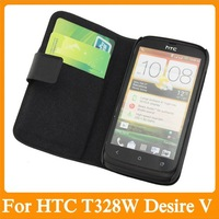 Free shipping High quality Leather Case For HTC T328W Desire V/Desire X T328e Droomoon 100% Real Cowhide Cover