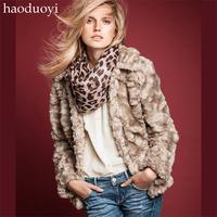 Rabbit fur coat lining fur coat