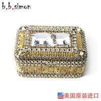 Bbsimon quality jewelry box crystal jewelry box fashion princess accessories storage box jewelry box