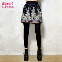 Elf SACK autumn women's royal painting vintage bust skirt