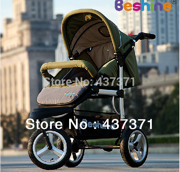 Baby stroller European Aluminium Alloy Three Air Wheel High Landscape Free Shipping(China (Mainland))