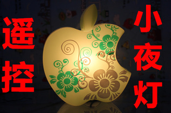 Green  for apple   remote control night light personalized gift lamp remote control bedroom lamp remote control remote control