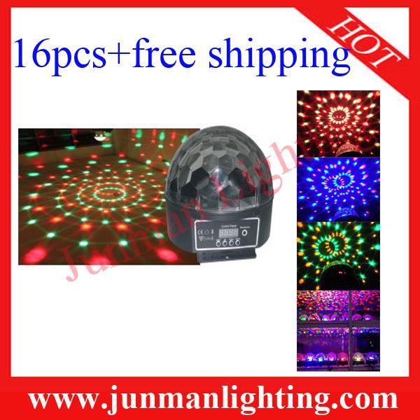 16pcs 6*3W RGBWA LED Crystal Ball Light Led Effect Light Disco Light Led Stage DJ Lighting Free Shipping(China (Mainland))