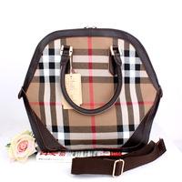 FREE Brand women's handbag new arrival 2013 plaid cowhide bag shoulder bag messenger bag handbag cross-body