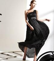 Free shipping 2013 new dress brand design Goddess Womens sexy one shoulder full dress Maxi slim high waist evening dress WQL0015