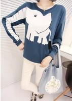 East Knitting Fashion OT-061 Women New 2014 Harajuku style sweatshirts animal Elephant pullovers girl  hoodies  free shipping