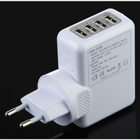 New arrival 4 Ports USB EU Plug Wall Home AC Charger Adapter For IPAD iPhone Samsung