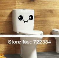 Sanitary ceramic tile wall stickers creative wall post expression toilet closestool is stuck Can be removed