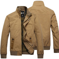 Men's clothing 2013 outerwear male autumn and winter jacket male slim 100% cotton water wash stand collar jacket