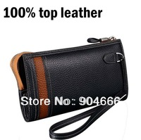 imported Italian 100% top leather multi-function clutch wallets for men genuine leather long,Upscale gift wallet men long design