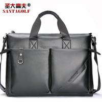 New Arrival santagolf men's laptop handbag, briefcase man, genuine leather bags men, business leather bags casual handbag E73