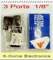 """Voltage Optional 3 Ports 1/4"""" Airtac Solenoid Valve Pneumatic Air Solenoid Control Valve Alumium Body 3V210-08"""