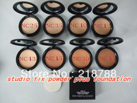 Free DHL Best selling Top quality 8colors makeup powder & cosmetic foundation studio fix upgrade nc25-55(60pcs/lot)