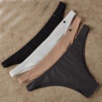 2014 New fashon women's bikini women briefs lycra thin seamless panties for women button brand temptation sexy low-waist briefs