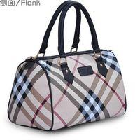 2014 fashion women's plaid motorcycle bag british style check brief handbag  luxury bucket big capacity tote bag