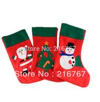 Christmas decoration gift socks christmas gifts green christmas stocking Santa Claus socks free shipping drop shipping 12pcs