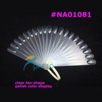 Freeshipping-10pcs 20 sticks Clear Pop Sticks Fan-Shaped Nail Art Display Clear Chart for Polish Gel Display Tool SKU:F0025X