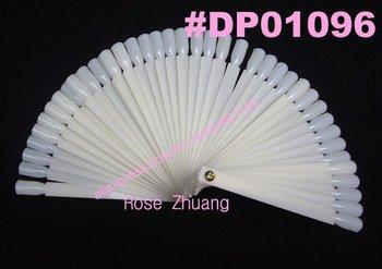 Freeshipping-10sets/lot 50 tips Fan-Shaped Nail Art Display Natural Chart for Polish Gel Display Tool Wholesales SKU:F0027XFree