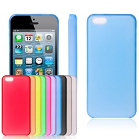 For iPhone 5C Case Crystal Clear Hard Plastic Back Cover Ultra Thin 0.3mm Cases For iphone5C 10pcs/lot Free Shipping