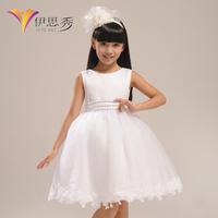 Child formal dress flower girl princess flower girl dress wedding dress white winter cape