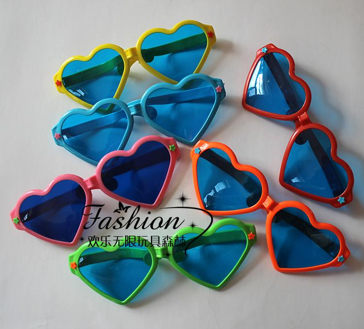 Cosplay fancy dress party props photography props party glasses child heart glasses(China (Mainland))