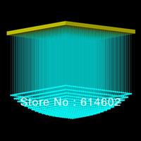 Square shape Color Changing PMMA optical fiber light L0.6m*W0.6m*H0.6m