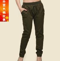 3xl waist 110 112cm hip 120cm 122cm Plus size clothing Large harem pants spring autumn women's trousers ultralarge casual