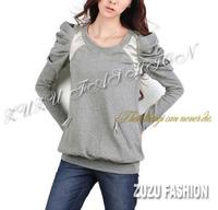 6xl 5xl 4xl bust 140cm Autumn winter clothing mm plus size sweatshirt outerwear cotton t-shirt bubble long-sleeve 3290 paragraph