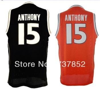 New Arrival #15 Carmelo Anthony Jersey Men's Syracuse Orange University Basketball Jerseys 100% Stitched Cheap Wholesale Jerseys