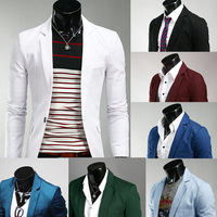 Free shipping 2013 Winter new Male slim solid color 8 blazer M~XXL