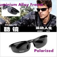 Professional aluminium alloy polarized  sunglasses for men 6812 high-grade sport outdoor Men's polarizer sunglasses