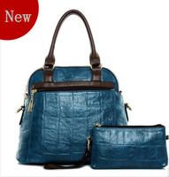Fashion trend of the 2013 women's handbag picture package piece set vintage handbag large bag