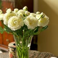 Quality artificial flowers artificial flower silk flower home decoration flower floral set tea rose camelias jimsonweed 2