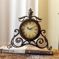 Meike holy vintage metal clock wrought iron desk clock decoration
